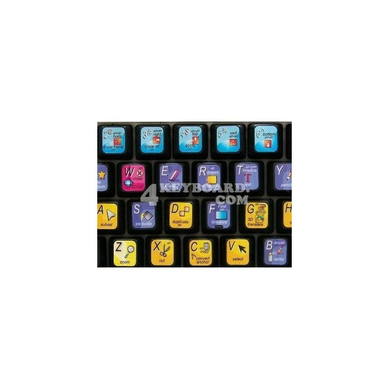 FLASH keyboard sticker