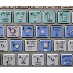 FLASH Galaxy series keyboard sticker apple