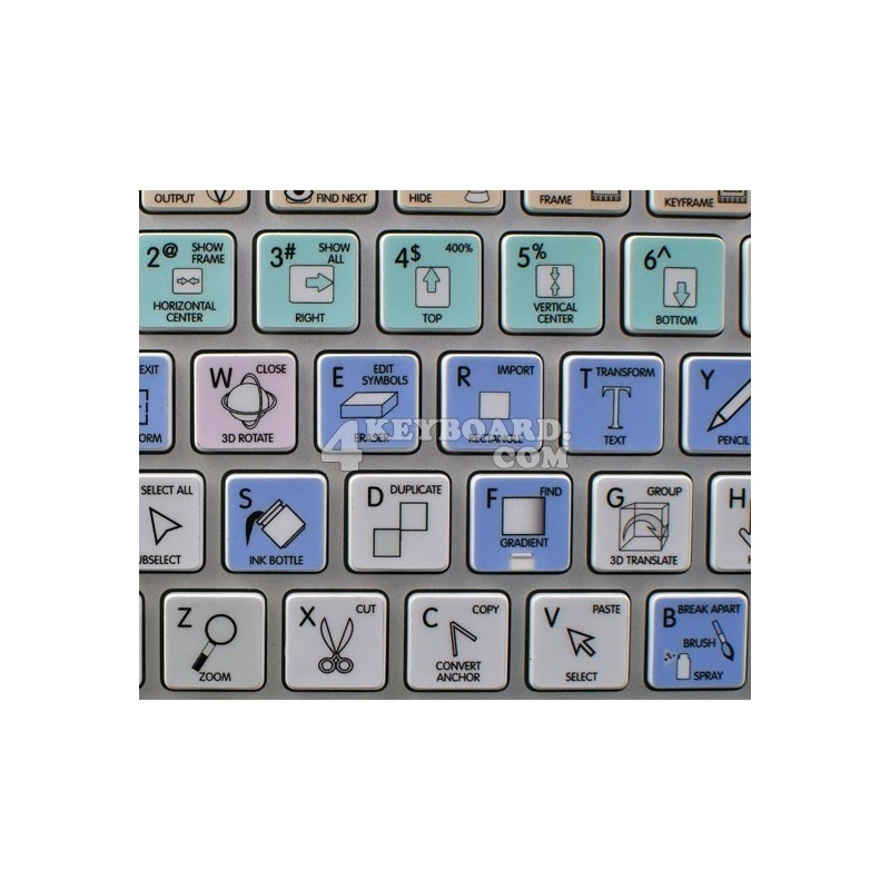 Adobe Animate Galaxy series keyboard sticker apple