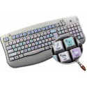 ILLUSTRATOR Galaxy series keyboard sticker 12x12