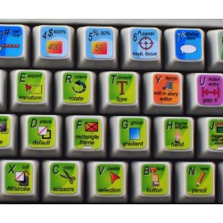 INDESIGN keyboard sticker
