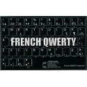 French QWERTY non transparent keyboard stickers