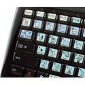 INDESIGN Galaxy series keyboard sticker 12x12