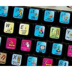 Shake keyboard sticker