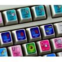 Vcube keyboard sticker