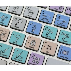 PHOTOSHOP Galaxy series keyboard sticker