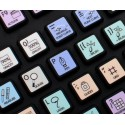 PHOTOSHOP Galaxy series keyboard sticker 12x12