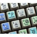 PHOTOSHOP Galaxy series keyboard sticker 12x12
