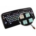 ARCHICAD Galaxy series keyboard sticker 12x12