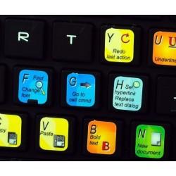 Microsoft Excel keyboard sticker