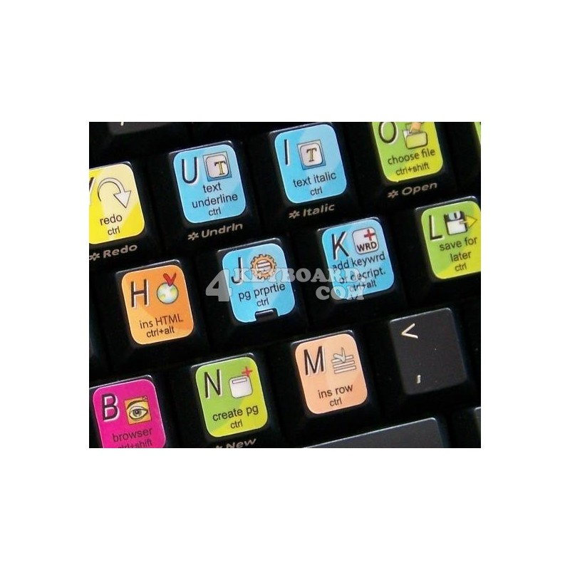 Adobe Contribute keyboard sticker