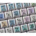 Corel Painter Galaxy series keyboard sticker 12x12