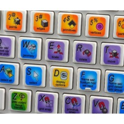 Houdini Master keyboard sticker