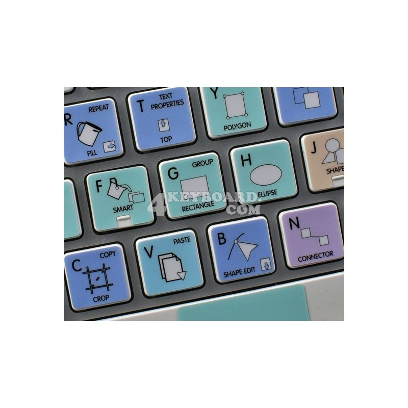 CorelDRAW Galaxy series keyboard sticker Apple size