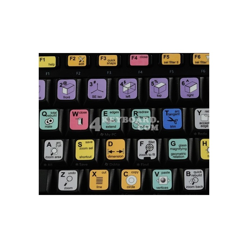 SolidWorks keyboard sticker
