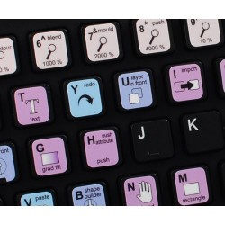 Xara Designer Pro keyboard sticker
