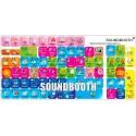 Soundbooth keyboard sticker