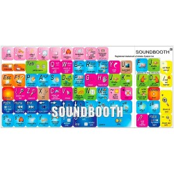 Soundbooth keyboard sticker