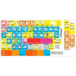 ARTRAGE keyboard sticker