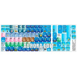 Aurora Edit keyboard sticker