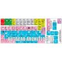 AutoCAD Architecture keyboard sticker
