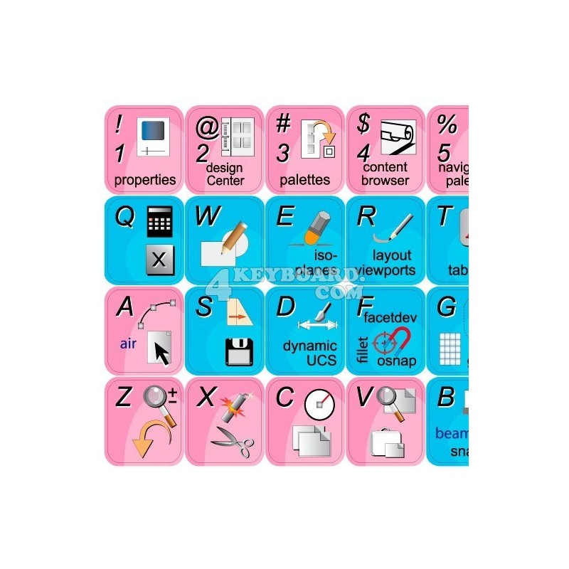 AutoCAD Architecture keyboard sticker