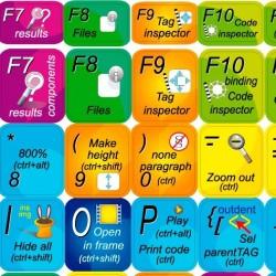 Adobe Dreamweaver keyboard sticker