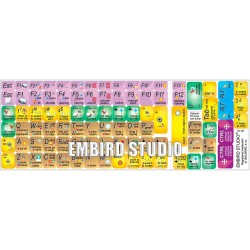 Embird studio keyboard sticker