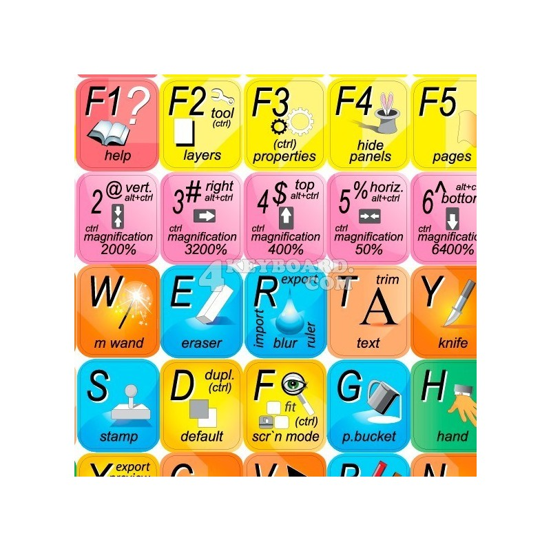 Adobe Fireworks keyboard sticker