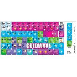 Goldwave keyboard sticker