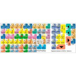 PCDJ keyboard sticker