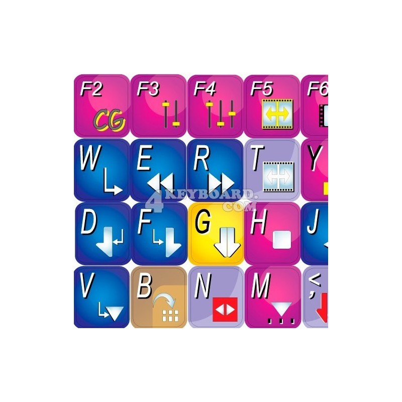 Pinnacle Liquid Edition keyboard sticker
