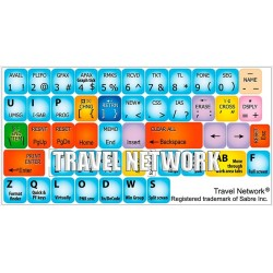 Travel Network keyboard sticker