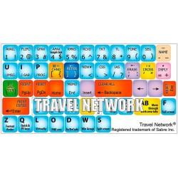 Travel Network keyboard sticker