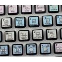 Autodesk Smoke Galaxy series keyboard sticker 12x12