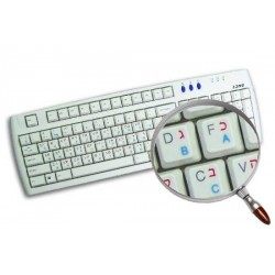 Hebrew Russian transparent keyboard stickers