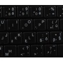 Slovak transparent keyboard  stickers 14x14