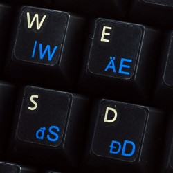 Hungarian transparent keyboard stickers
