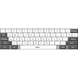 Colemak transparent keyboard  stickers