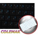 Colemak transparent keyboard  stickers 14x14