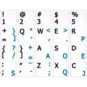 Dvorak English non-transparent keyboard  stickers 14x14