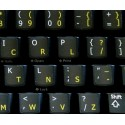 Dvorak English non-transparent keyboard  stickers 11x13
