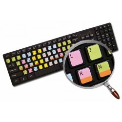 Learning French Bepo Colored non transparent keyboard stickers