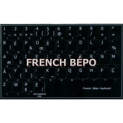 French Bepo non transparent keyboard stickers