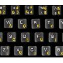 Svorak transparent keyboard  stickers