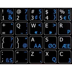 Programmer Dvorak English non-transparent keyboard stickers 14x14