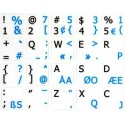Programmer Dvorak English non-transparent keyboard stickers 15x15