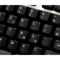 Programmer Dvorak non-transparent keyboard  stickers