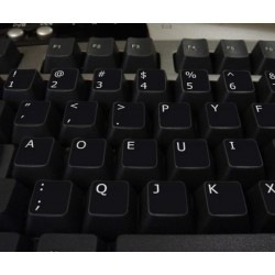Dvorak non-transparent keyboard stickers 11x13