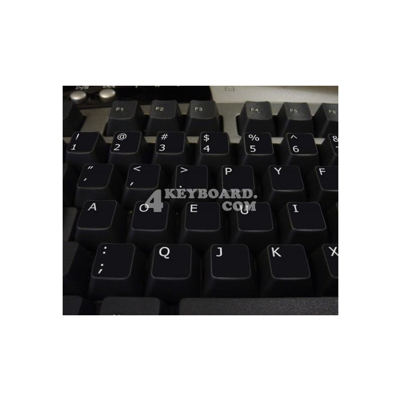 Dvorak non-transparent keyboard stickers 11x13